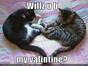 Willz u b  my valintine?