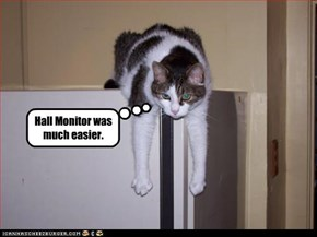 Hall Monitor was much easier.