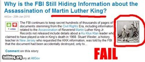 Martin Luther King Fail.