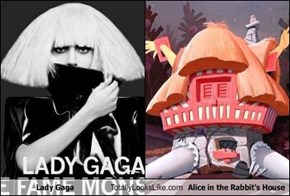 Lady Gaga Totally Looks Like Alice in the Rabbit's House