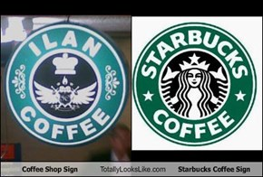 Coffee Shop Sign Totally Looks Like Starbucks Coffee Sign