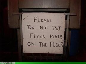 no floor mats on floor