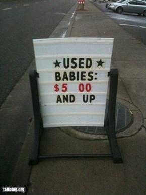 Baby Sale Fail