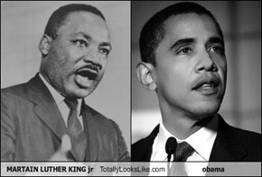 MARTAIN LUTHER KING jr Totally Looks Like obama