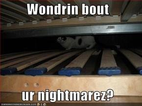 Wondrin bout  ur nightmarez?