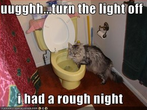 uugghh...turn the light off  i had a rough night