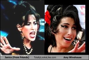 Janice (From Friends) Totally Looks Like Amy Winehouse