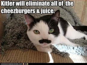 Kitler will eliminate all of  the cheezburgers & juice.