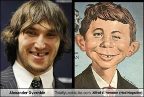Alexander Ovechkin Totally Looks Like Alfred E. Newman (Mad Magazine)