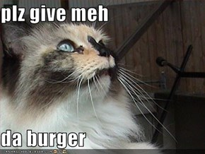 plz give meh  da burger
