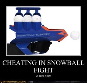 CHEATING IN SNOWBALL FIGHT