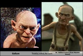 Gollum Totally Looks Like Mr. Nebbercracker (from Monster House)