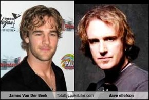 James Van Der Beek  Totally Looks Like dave ellefson