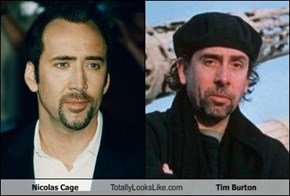 Nicolas Cage Totally Looks Like Tim Burton