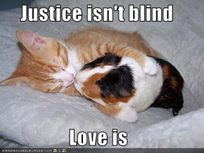 Justice isn't blind   Love is
