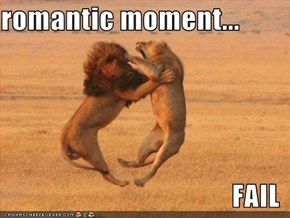 romantic moment...  FAIL