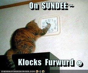 On  SUNDEE ~   Klocks  Furwurd ☻