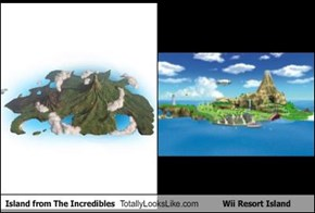 Island from The Incredibles Totally Looks Like Wii Resort Island