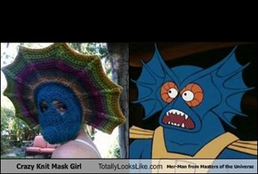 Crazy Knit Mask Girl Totally Looks Like Mer-Man from Masters of the Universe