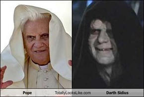 Pope Totally Looks Like Darth Sidius