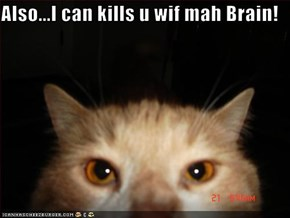 Also...I can kills u wif mah Brain!