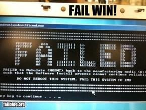 Fail win!