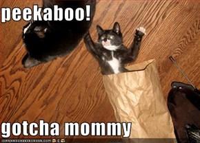 peekaboo!  gotcha mommy