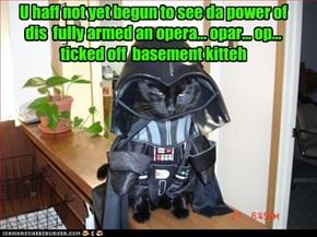 U haff not yet begun to see da power of dis  fully armed an opera... opar... op... ticked off  basement kitteh