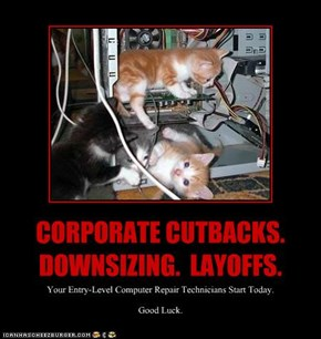 CORPORATE CUTBACKS.  DOWNSIZING.  LAYOFFS.