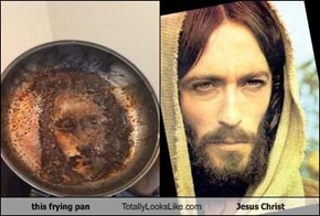 this frying pan Totally Looks Like Jesus Christ