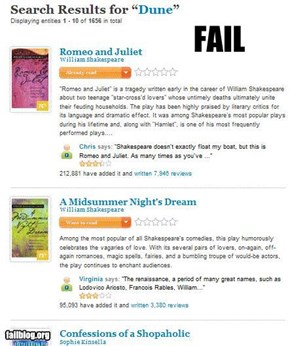 Book Search Fail
