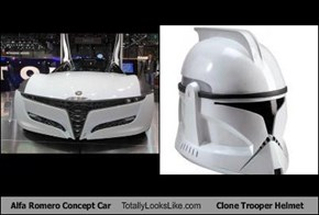 Alfa Romero Concept Car Totally Looks Like Clone Trooper Helmet