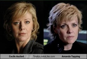 Cecile Auclert Totally Looks Like Amanda Tapping