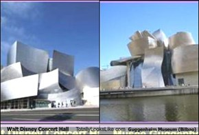 Walt Disney Concert Hall Totally Looks Like Guggenheim Museum (Bilbao)