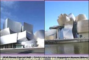 Walt Disney Concert Hall Totally Looks Like Guggenheim Museum (Bilbao)