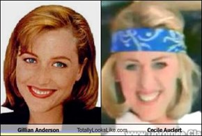 Gillian Anderson Totally Looks Like Cecile Auclert