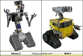 Johnny 5 Totally Looks Like Wall-E