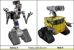 Johnny 5 Totally Looks Like Wall-E
