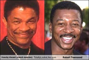 Francky Vincent (French musician) Totally Looks Like Robert Townsend