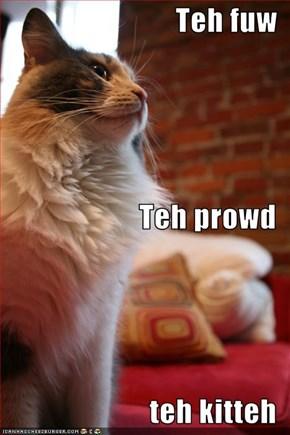 Teh fuw Teh prowd teh kitteh