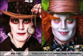Ville Valo Totally Looks Like Johnny Depp as Mad Hatter