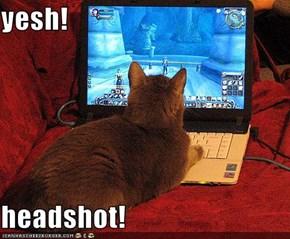 yesh!  headshot!