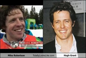 Mike Robertson Totally Looks Like Hugh Grant