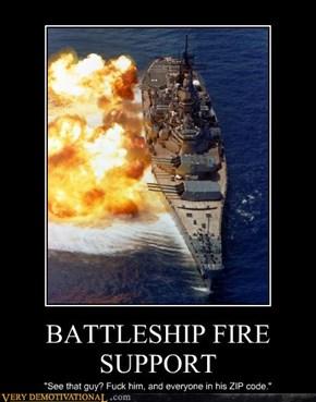 BATTLESHIP FIRE SUPPORT