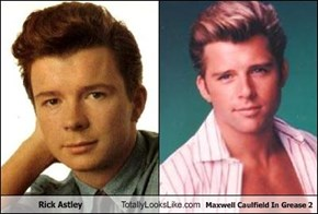 Rick Astley Totally Looks Like Maxwell Caulfield In Grease 2