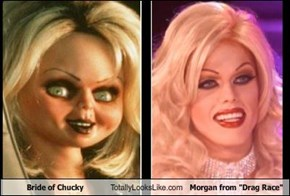 "Bride of Chucky Totally Looks Like Morgan from ""Drag Race"""