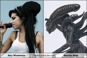 Amy Winehouse Totally Looks Like Warrior Alien