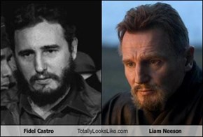 Fidel Castro Totally Looks Like Liam Neeson