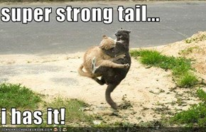 super strong tail...  i has it!