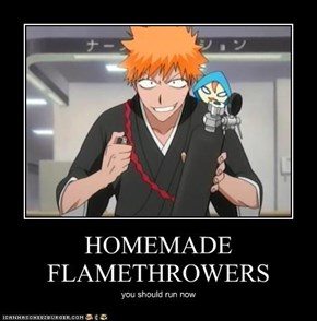 HOMEMADE FLAMETHROWERS